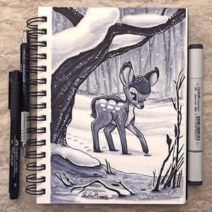 Inktober Day 11 - Snow by TsaoShin