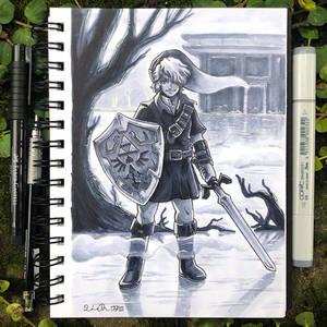 Inktober Day 26 - Dark by TsaoShin