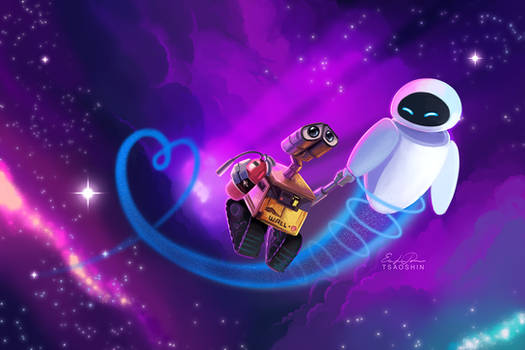 Wall-e and Eve - Valentine's Day