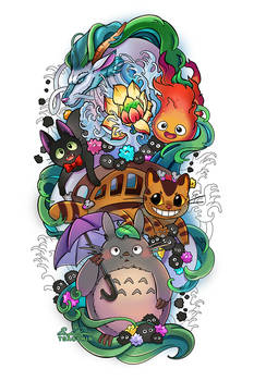 Ghibli Tattoo Commission