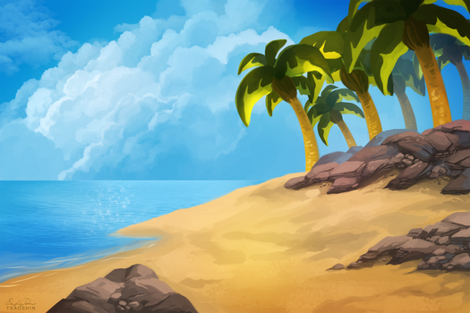 Beach Background - Free to Use