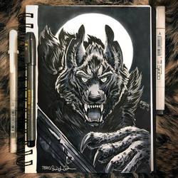 Novembrush Day 7 - Werewolf