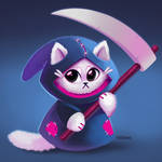 Grim Reaper Cat