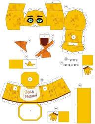 Gold94chica Papercraft (green eays) by me by karlkruger1234