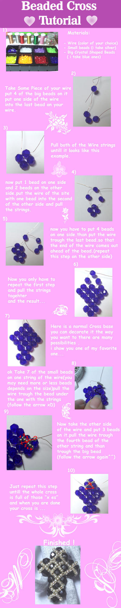 Beaded Cross Tutorial by lenneheartly