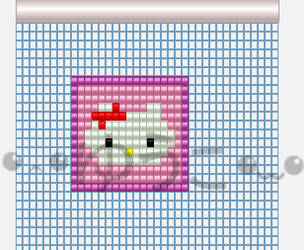 Hello Kitty Beading Pattern by lenneheartly