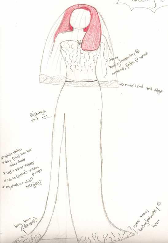 Jessica Rabbit wedding dress by Stormraven24 on DeviantArt