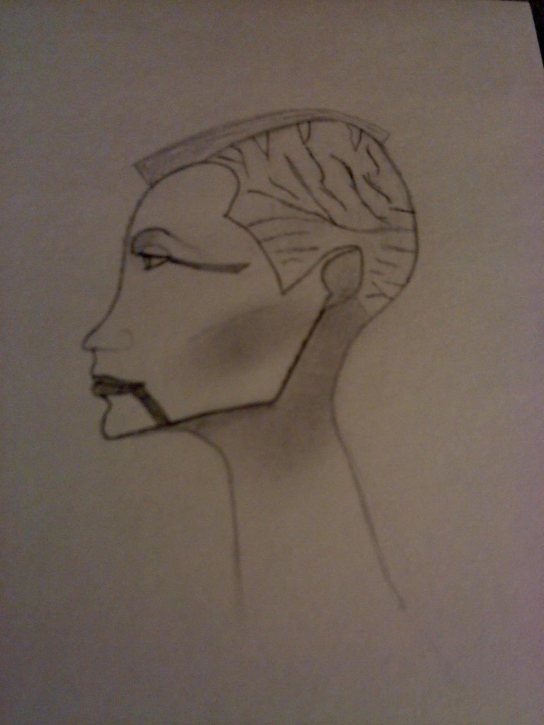 Asajj concept bust by Stormraven24