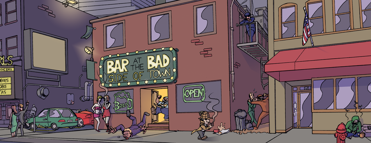 The Bad Side of Town - COLOR by mistermuck