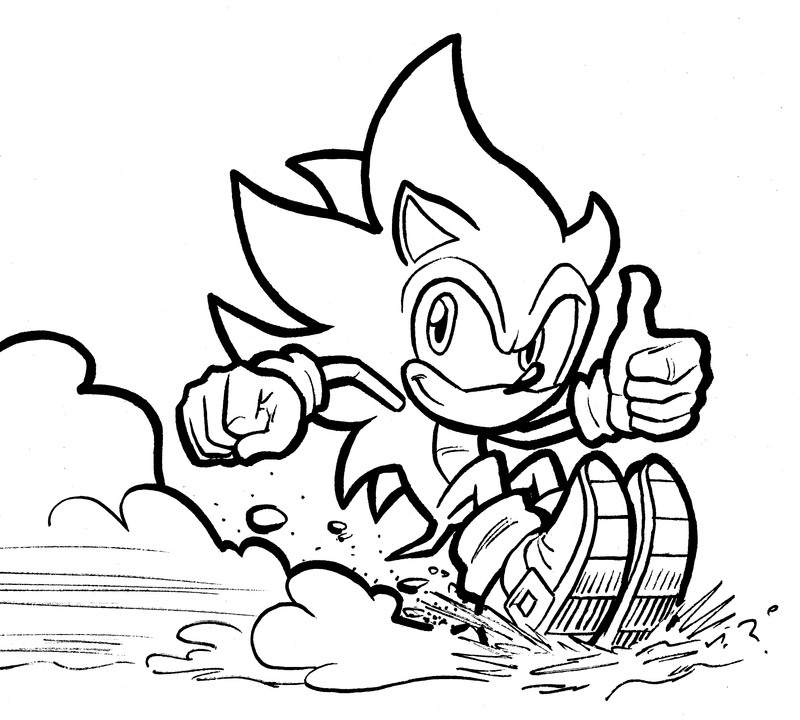 Line Drawing Hedgehog : Sonic the hedgehog is by mistermuck on deviantart