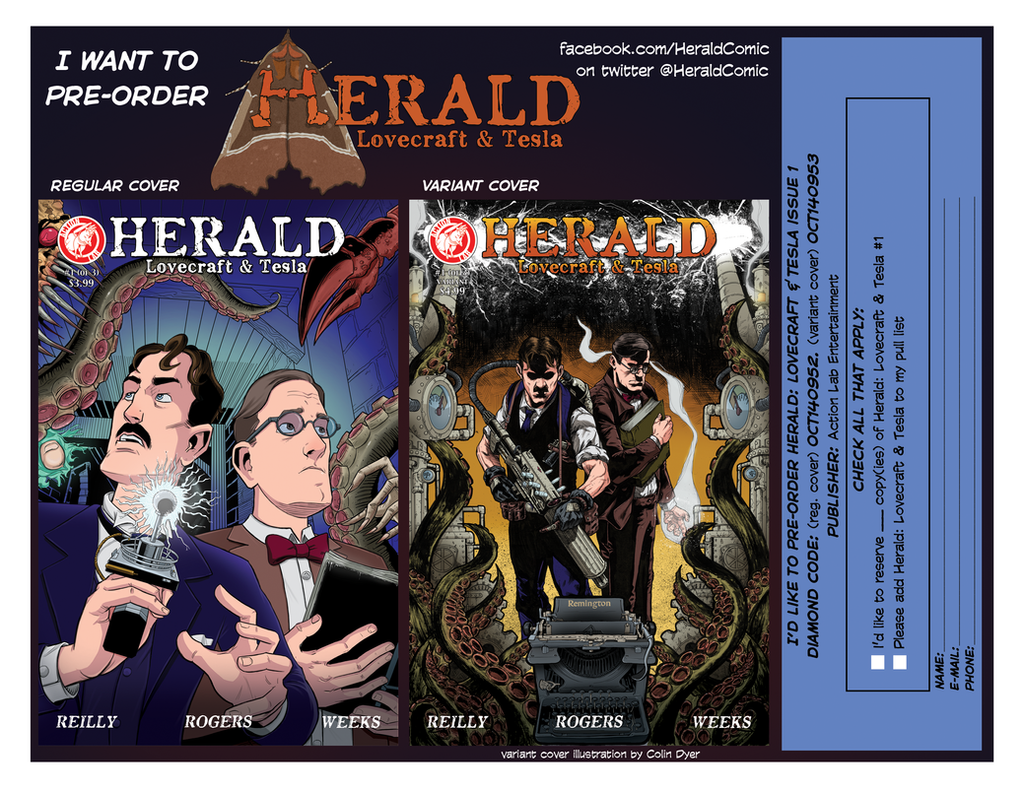 Herald pre-order postcard! by mistermuck
