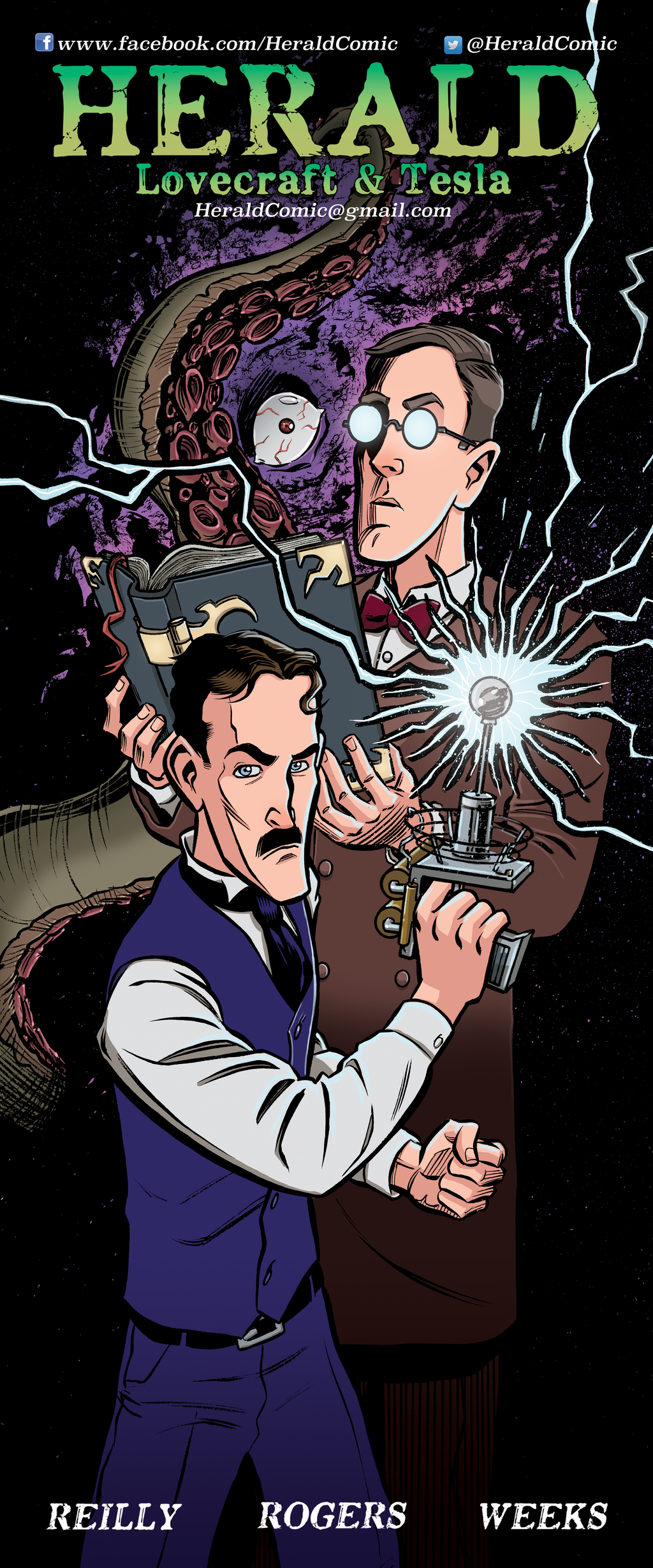 'Herald: Lovecraft + Tesla' banner colors by mistermuck