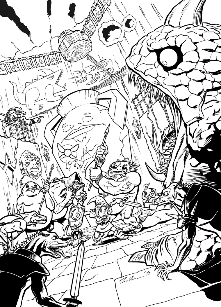 Link in Goron City INKS by mistermuck