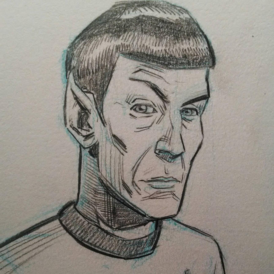 Leonard Nimoy sketch by mistermuck