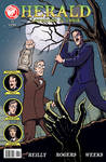 Herald: Lovecraft and Tesla issue 04 cover COLOR by mistermuck