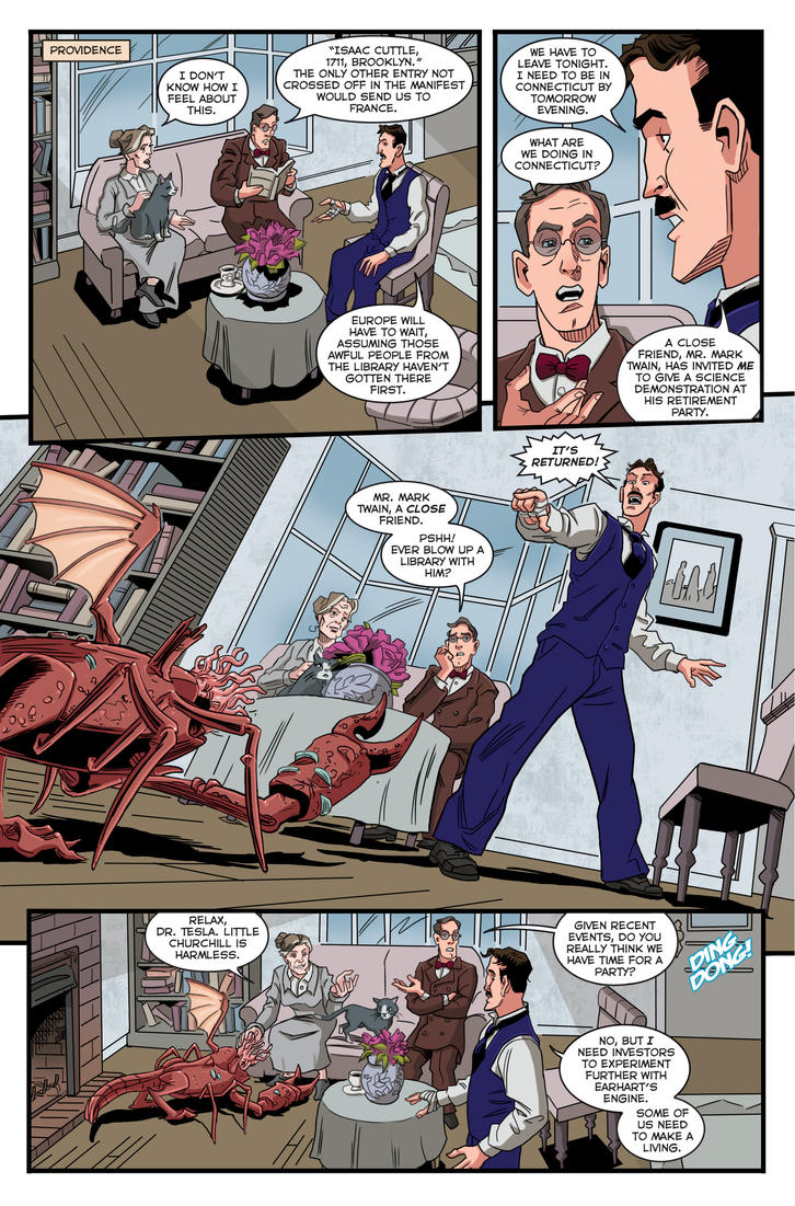 Herald: Lovecraft and Tesla preview page 04_02 by mistermuck