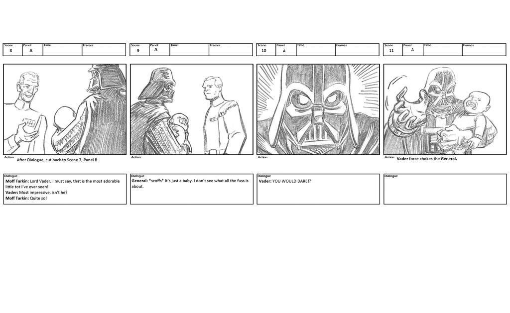Darth Vader storyboards 5 by mistermuck