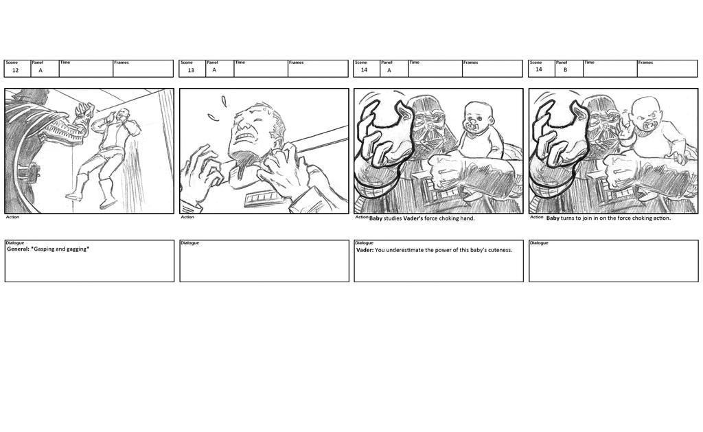 Darth Vader storyboards 6 by mistermuck