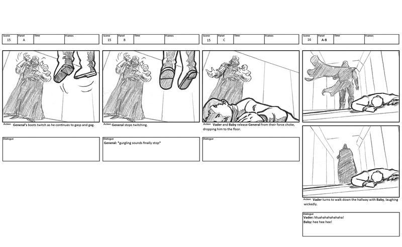 Darth Vader storyboards 7 by mistermuck