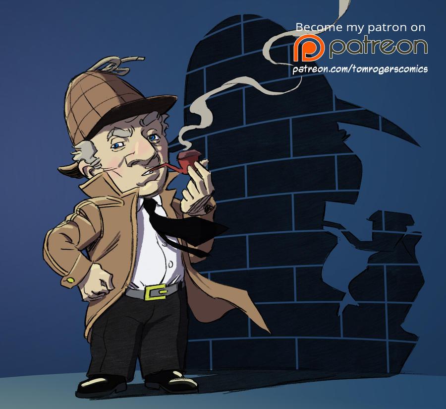 Detective Scratch color sketch by mistermuck