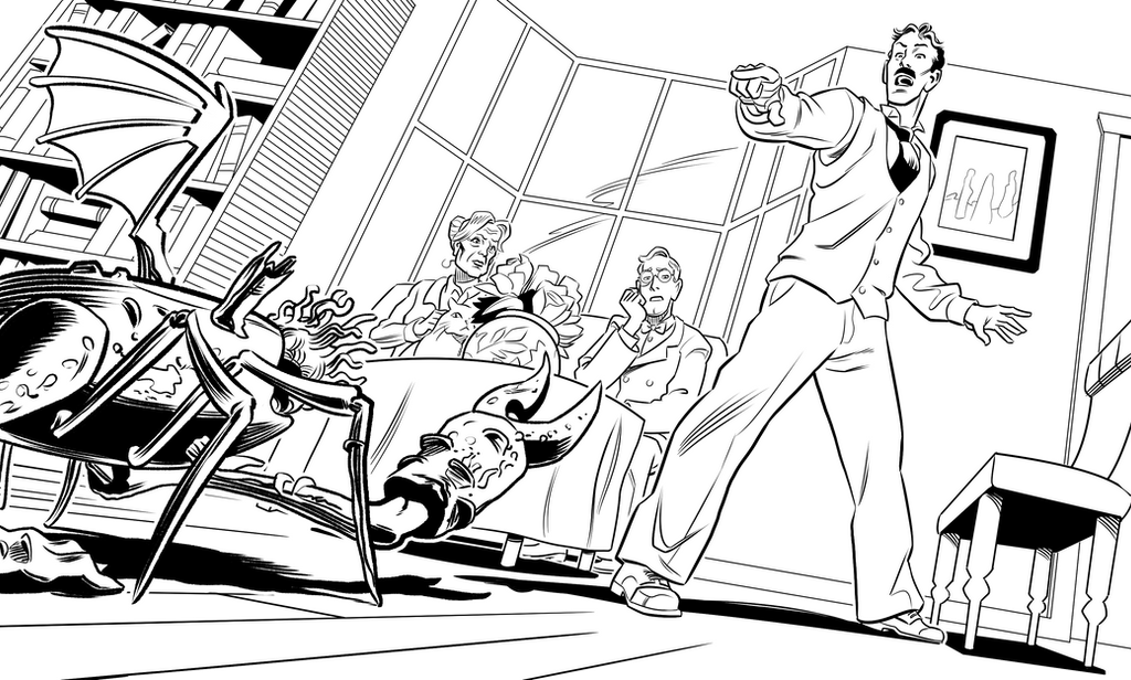 Herald comic digital inks experiment by mistermuck