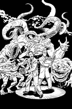 Herald: Lovecraft and Tesla issue 09 cover INKS