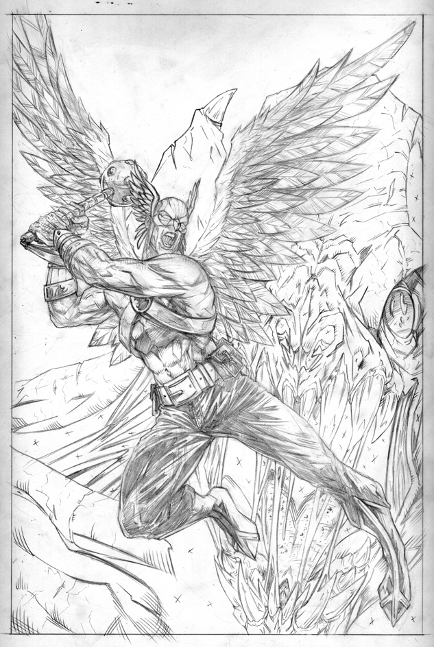 hawkman coloring pages - photo#35