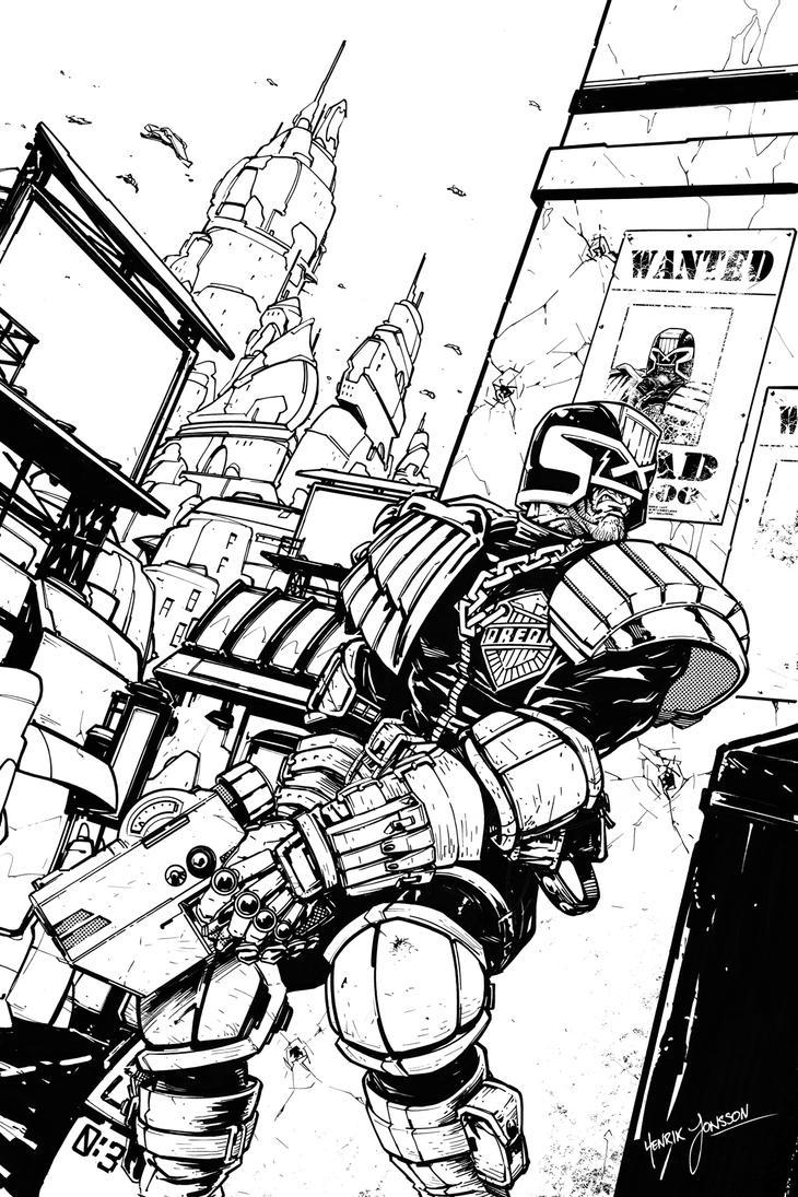 Judge Dredd - Mega-City Justice by HenrikJonsson