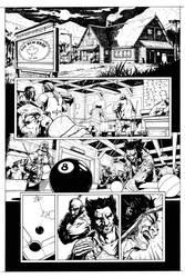 Wolverine - Bar Fight Scene page 1 by HenrikJonsson