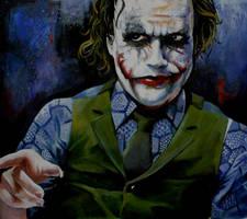 Joker pointing by sullen-skrewt