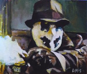 Rorschach's  lethal hairspray by sullen-skrewt