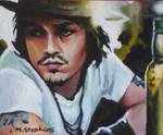 Johnny Depp acrylic ACEO