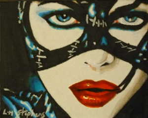 Catwoman Copic -Acrylic ACEO by sullen-skrewt