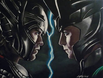 Thor and Loki by sullen-skrewt