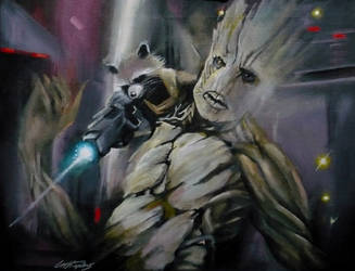 Rocket and Groot: Prison scene