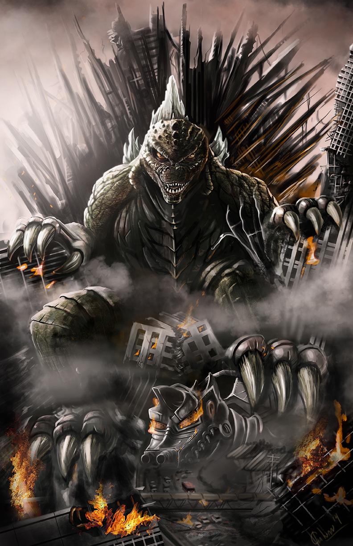 Godzilla by josegalvan on deviantart for Iron throne painting