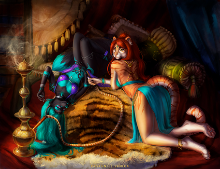 [YCH collab] Arabian Nights by EtskuniArt