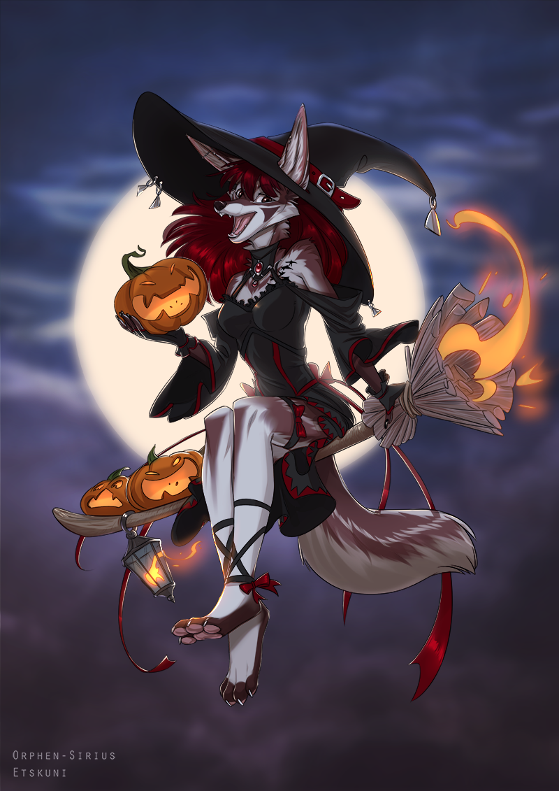 [G] Witches Night Out by EtskuniArt