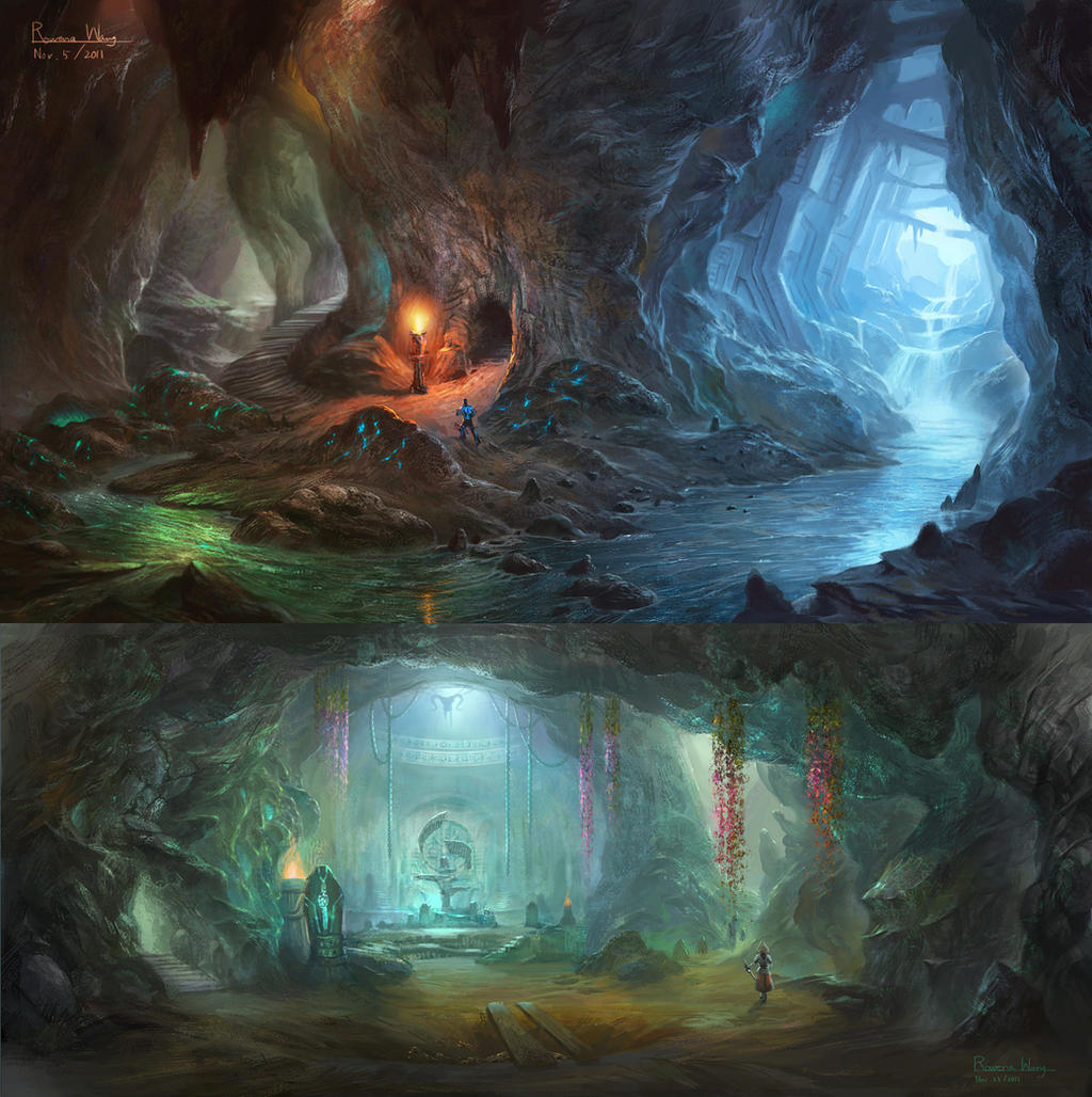Crystal mine by wang2dog on deviantart for Paintings of crystals