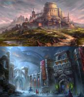 Academy of Magic + School Campus by wang2dog