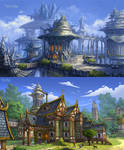 Glintadale: Silver Arch City and Bluemary Tavern