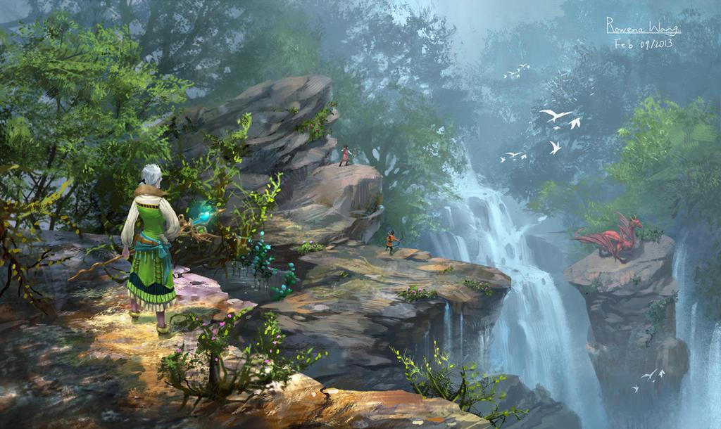 waterfall by wang2dog