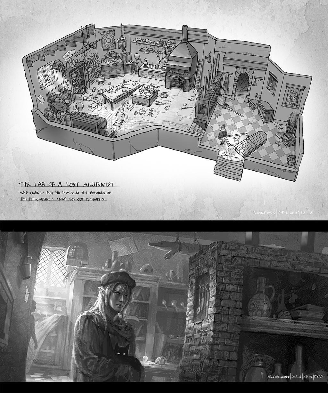 alchemist room by wang2dog