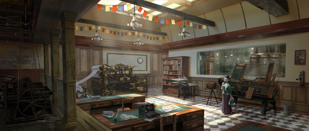 C.O.T: The Newspaper Office by wang2dog