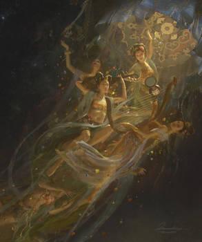 Apsaras Orchestra - Buddhist Heaven - Detail 2