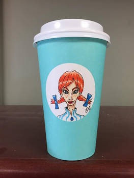 Wendy on a Starbucks cup