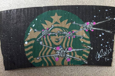 X-wings attack Starbucks