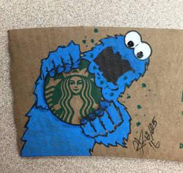 Starbucks Cooookie, nom, nom, nom,nom, nom by MrToon2000