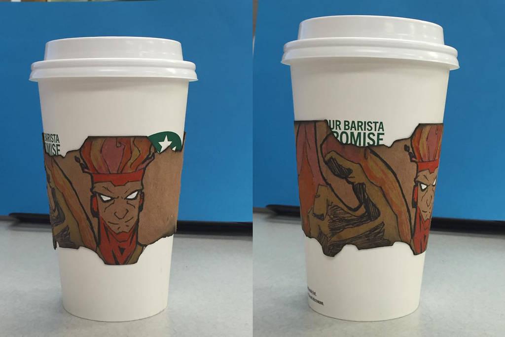 Firestrom Starbucks coffee ring by MrToon2000