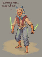sparring with Anakin by Gimgi